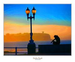 Muro San Lorenzo (Gijn) (CarlosConde/Photography) Tags: muro canon eos farola gijn asturias playa 5d sanlorenzo elogio horizonte cartel ef1352