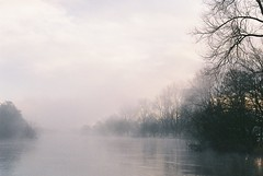 foggy morning at the river (Pat Kelleher) Tags: ireland mist film nature fog canon river landscape cork peaceful tranquility riverlee filmphotography canon3000n patkelleherphotography