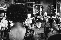 (G. L. Brown) Tags: blackandwhite bw night contrast noir shadows nashville dancing candid crowd streetphotography signage documentaryphotography