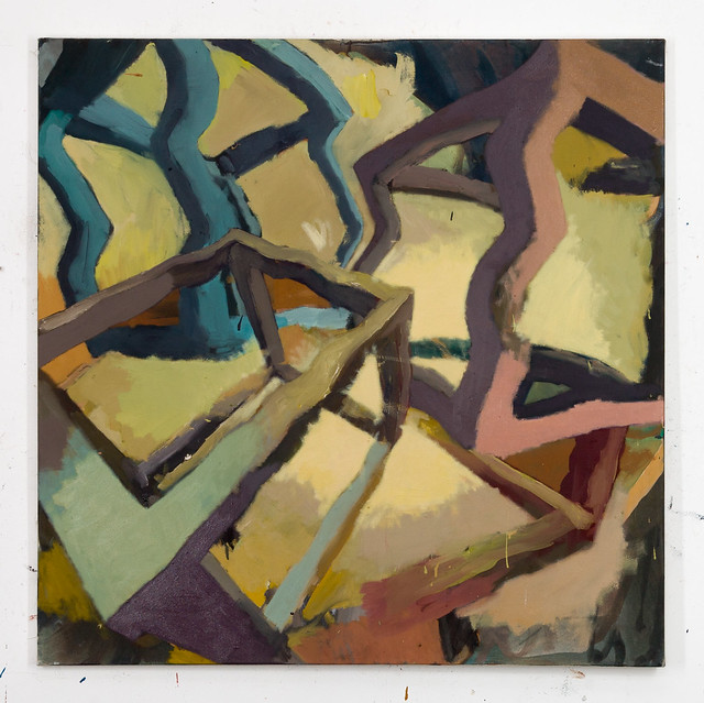 Anodenspannung,100x100cm, Eggtempera,Oil/Pigment, 2015