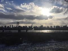 Before the snow, glorious Central Park. (Cait_Stewart) Tags: city nyc newyorkcity travel sky urban usa sun lake ny newyork skyline clouds skyscraper cityscape centralpark wanderlust cloudporn iphoneography instagramapp
