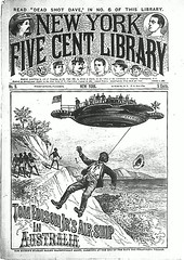 Steampunk airship dime novel (steammanofthewest) Tags: australia airship sciencefiction steampunk 1892 dimenovel boyhero edisonade boyinventor tomedisonjr
