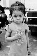 (kuuan) Tags: bw girl fun kid village play expression vietnam angry afraid vilage