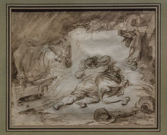 2015/12/11 18h18 Jean-Honor Fragonard, L'Etable (vers 1765-1770), exposition Fragonard (Valry Hugotte) Tags: paris france painting ledefrance muse exposition tableau fragonard lavis museduluxembourg jeanhonorfragonard ltable