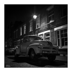 Lost in London (JRTurnerPhotography) Tags: city uk longexposure greatbritain travel england blackandwhite bw london chevrolet tourism monochrome car night truck canon dark photography mono photo europe cityscape photographer image unitedkingdom picture pickup tourist chevy photograph gb squarecrop cityoflondon bethnalgreen eastlondon victorianlondon capitalcity citynights victorianera canon24105mmf4l gaslamps jaketurner canon5dmarkiii jrturnerphotography