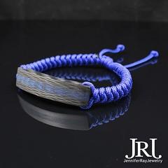Blue core Carbon Fiber with Electric Blue snake band.  Want one? Click the link in my bio. #jenniferrayjewelry #jrj #carbonfiber #blue #mensfashion #armcandy #wristshot #edc #luxuryjewelry #mensjewelry #carbonfibre #blueb (JenniferRay.com) Tags: ray jennifer jewelry carbon custom fiber exclusive paracord jrj instagram