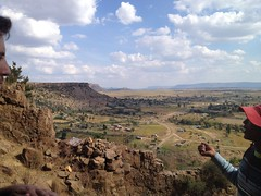 our guide explains the history of Thaba Bosiu (kathleenbarber) Tags: africa travel lesotho maseru thababosiu