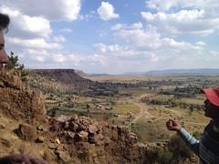 our guide explains the history of Thaba Bosiu (kathleenbarber) Tags: africa travel lesotho maseru thababosiu
