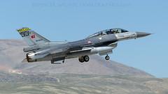 Twin Seater F-16. (spencer.wilmot) Tags: turkey airplane fighter aircraft aviation jet f16 departure takeoff kya militaryaviation konya ntm tigermeet fightingfalcon turkishairforce airside ltan 890043