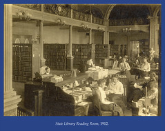 State Library Reading Room, 1912 (State Library of Massachusetts) Tags: bostonmassachusetts massachusettsstatehouse massachusettslegislature statelibraryofmassachusetts