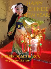 Happy Chinese New Year of the monkey! (Barbie dolls by RCA) Tags: new by monkey princess year chinese royal disney cny lantern shimmer hasbro mulan 2016