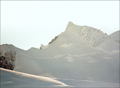 Backlit Mont Blanc (Katarina 2353) Tags: winter mountain snow france film canon landscape peak chamonix montblanc katarinastefanovic katarina2353