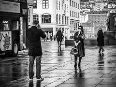"""Photo session"" (Terje Helberg Photography) Tags: street camera city winter urban blackandwhite bw monochrome fashion norway town model photographer photoshoot candid citylife streetphotography samsung photograph bergen photosession bnw greyscale torgallmenningen visitnorway ilovenorway nx30 visitbergen"
