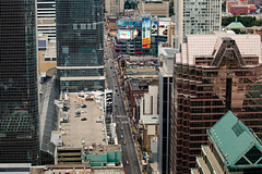 Dundas Square via Yonge Street (Memp0) Tags: city travel urban toronto canada rooftop landscape downtown cityscape centre center yonge dundas dundassquare travelphotography rooftopping