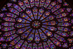 Kaleidoscope (pietkagab (on the road)) Tags: trip travel paris france art tourism church window architecture dark photography pattern colours cathedral pentax stainedglass kaleidoscope notredame indoors round k5 kalejdoskop witraz pentaxk5ii pietkagab piotrgaborek