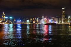 Hong Kong for Xmas (estefanialin) Tags: christmas xmas hk night hongkong harbor colorful asia sony nightview victoriaharbor 2015 a6000 sonya6000