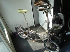 DAHON STAINLESS STEEL 3 SPEEDS (pabloanm) Tags: bike stainlesssteel folding brooks foldingbike dahon sturmeyarcher