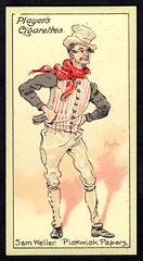 Cigarette Card - Sam Weller (cigcardpix) Tags: vintage advertising ephemera dickens cigarettecards