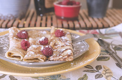 Scrumptious Crpes! (flashfix) Tags: stilllife food ontario canada utensils fruit pancakes breakfast nikon sweet ottawa bowl plates 40mm setting icingsugar raspberries crpes foodphotography hss 2016 sweetsunday frommykitchen d7000 nikond7000 happysweetsunday 2016inphotos january242016