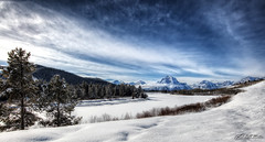 Oxbow Bend in White (RH Miller) Tags: winter usa snow landscape wyoming grandtetonnationalpark oxbowbend reedmiller rhmiller