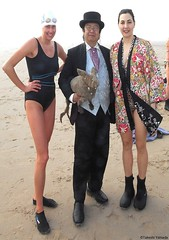Dr. Takeshi Yamada and Seara (Coney Island Sea Rabbit) at the winter swimming event by the Coney Island Polar Bear Club at the Coney Island Beach in Brooklyn, New York on January 10 (Sun), 2015. mermaids.  20160110Sun DSCN3339=pC1. Ellaine Pavlova. Susan (searabbits23) Tags: winter ny newyork sexy celebrity art beach fashion animal brooklyn asian coneyisland japanese star yahoo costume tv google king artist dragon god cosplay manhattan wildlife famous gothic goth performance pop taxidermy cnn tuxedo bikini tophat unitednations playboy entertainer samurai genius donaldtrump mermaid amc mardigras salvadordali billclinton hillaryclinton billgates aol vangogh curiosities bing sideshow jeffkoons globalwarming takashimurakami pablopicasso steampunk damienhirst cryptozoology freakshow barackobama polarbearclub seara immortalized takeshiyamada museumofworldwonders roguetaxidermy searabbit ladygaga climategate