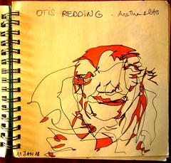 Ottis Redding (LetsLetsLets) Tags: sketch janeiro faces exercise drawing lisboa monsters caras 2008 desenho monstros colorido singleline exerccio esquisso letsletslets deolhosfechados traocontnuo linhanica