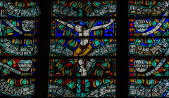 patrickrancoule-978 (Patrick RANCOULE) Tags: france christ roman glise carcassonne crucifixion criture vitraux stnazaire xve arbredevie philactres