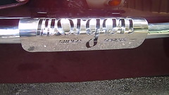 Morgan SS heat shields (LALIQUE MASCOTS) Tags: sports vintage three super wheeler trike morgan 1937 barrelback