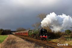 2nd February 2016. 9F 92220 Evening Star (92214) running a pines express. (Dangerous44) Tags: star evening engine steam pines express gcr woodthorpe 9f 92220 92214