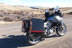February ride in Montana (montanatom1950) Tags: montana riding suzuki dl650 vstrom motorcycletouring