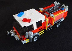 CFA Pumper Tanker (LonnieCadet) Tags: road rescue car ferry truck fire town lego helicopter vehicles service emergency tanker cfa pumper moc 2016 brickvention lonniecadet bv16