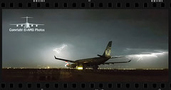 Lightning Departure (EI-AMD Photos) Tags: city storm manchester airport photos aviation uae airbus british lightning boeing airways abu dhabi departure thunder a330 auh 787 etihad dreamliner omaa eiamd