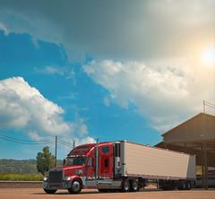 San Rafael, CA (SpookyUSA) Tags: usa game truck american coronado simulator trucking freightliner