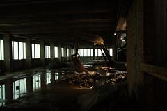 (Jef Van den Bossche) Tags: city light brussels building window water trash office break belgium belgique crane district capital north belgi bruxelles indoor down brussel kantoor belgien noord bxl