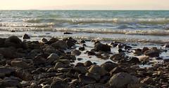 Shore (Khaled M. K. HEGAZY) Tags: blue sea brown white black macro beach nature water rock stone closeup seaside nikon ship outdoor redsea egypt wave coolpix شاطئ بحر صخور أمواج صخرة البحرالأحمر موجة p520 rassedr
