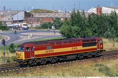 56094GB_CargoFleet_140703 (Catcliffe Demon) Tags: grid railways teesside northyorkshire ews rosters class56 ukrailimages2003 englishwelshscottishrailway breltype5