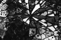 _crackd (emibell) Tags: california ca venice summer blackandwhite bw musician music art film glass 35mm la losangeles nikon shoot floor kodak mosaic trix grain band ground indiepop socal indie venicebeach indierock westside southerncalifornia shattered nikonf2 behindthescenes musicvideo cracked bts onset splattered beachtown indieband mosaichouse lasera splatterpainted emibell 10headedgoatwizard