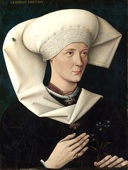 Portrait of a Woman of the Hofer Family, about 1470 // by Swabian (mike catalonian) Tags: portrait female germany painting halflength swabian 1470 1470s earlyrenaissance