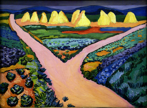 August Macke, Gemüsefelder - Vegetable fields