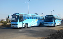Most beautiful buses of MSRTC Shivneri Volvo B7R buses (gouravshinde94) Tags: bus volvo pune shivneri b7r msrtc