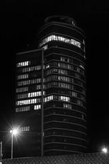 Tour Oxygène (Macsous) Tags: city blackandwhite night tour lyon noiretblanc nuit immeuble oxygène