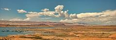 REJUVENATION (Irene2727) Tags: sky panorama nature water horizontal clouds marina skyscape landscape utah pano lakepowell glencanyon waterscape wideopenspaces bullfrogmarina waterenvirons