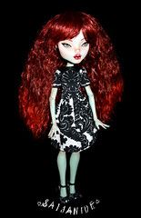 Evelyn (saijanide) Tags: girl monster high mod inch doll artist dolls evelyn ooak large frankie redhead wig customized 17 tall custom stein modded repaint saijanide