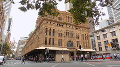 QVB Queen Victoria Building Sydney CBD NSW April 2016 (nicephotog) Tags: city urban shopping sandstone crowd sydney victoria queen nsw era cbd qvb carvings