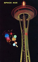 Vintage 1962 Seattle World's Fair Postcard, The Century 21 Exposition - The Space Needle And Satellite (France1978) Tags: seattle worldsfair seattlespaceneedle century21exposition 1962seattleworldsfair vintageseattleworldsfairpostcard