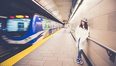 Station (Janey Song) Tags: street city people woman station lady train subway skytrain vancouvercanada omot cans2s ef1635mmf28liiusm canon5dmarkiii