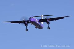 Flybe DHC Dash 8 ~ G-JEDR ( Freddie) Tags: london londoncityairport newham e16 lcy royaldocks eglc runway27