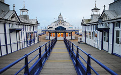 A Deserted Eastbourne Pier - Sussex (Mark Wordy) Tags: england coast victorian eastbourne boardwalk eastsussex eastbournepier emptyplaces bluerailings
