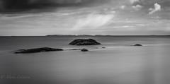 B&W Landscape (Mika Laitinen) Tags: ocean longexposure sea sky cloud nature water rock suomi finland shore fi helsingfors uusimaa uutela costline ef24105mmf4lisusm canon7dmarkii