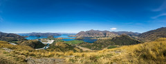 Rocky Mountain (Stefan Nikoloff - Photography) Tags: new blue summer sky panorama cloud lake alps water grass river walking boats high rocks hiking sony peak zealand valley carl otago wanaka waterscape treking ziess a65